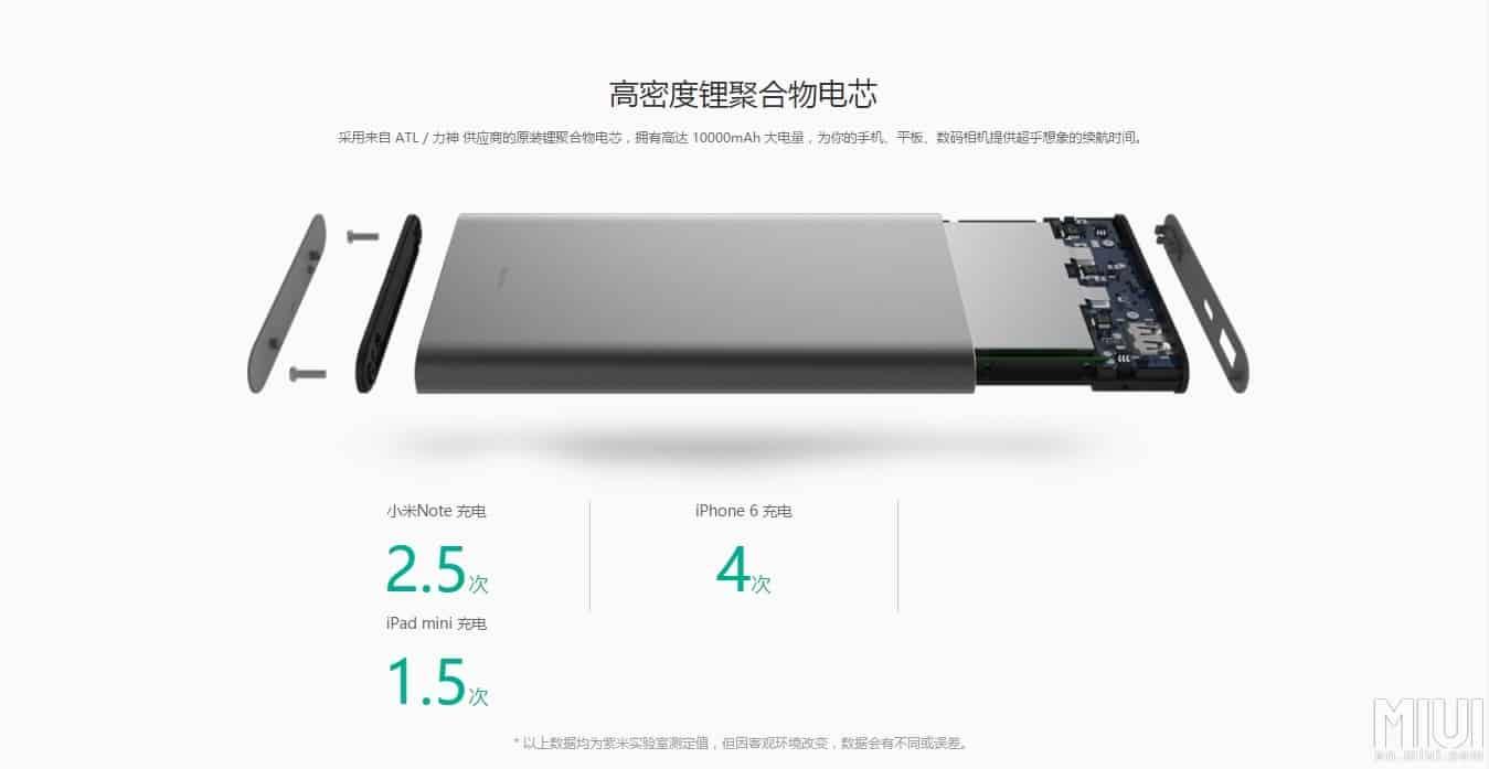 Power Bank USB Type C Mi Pro