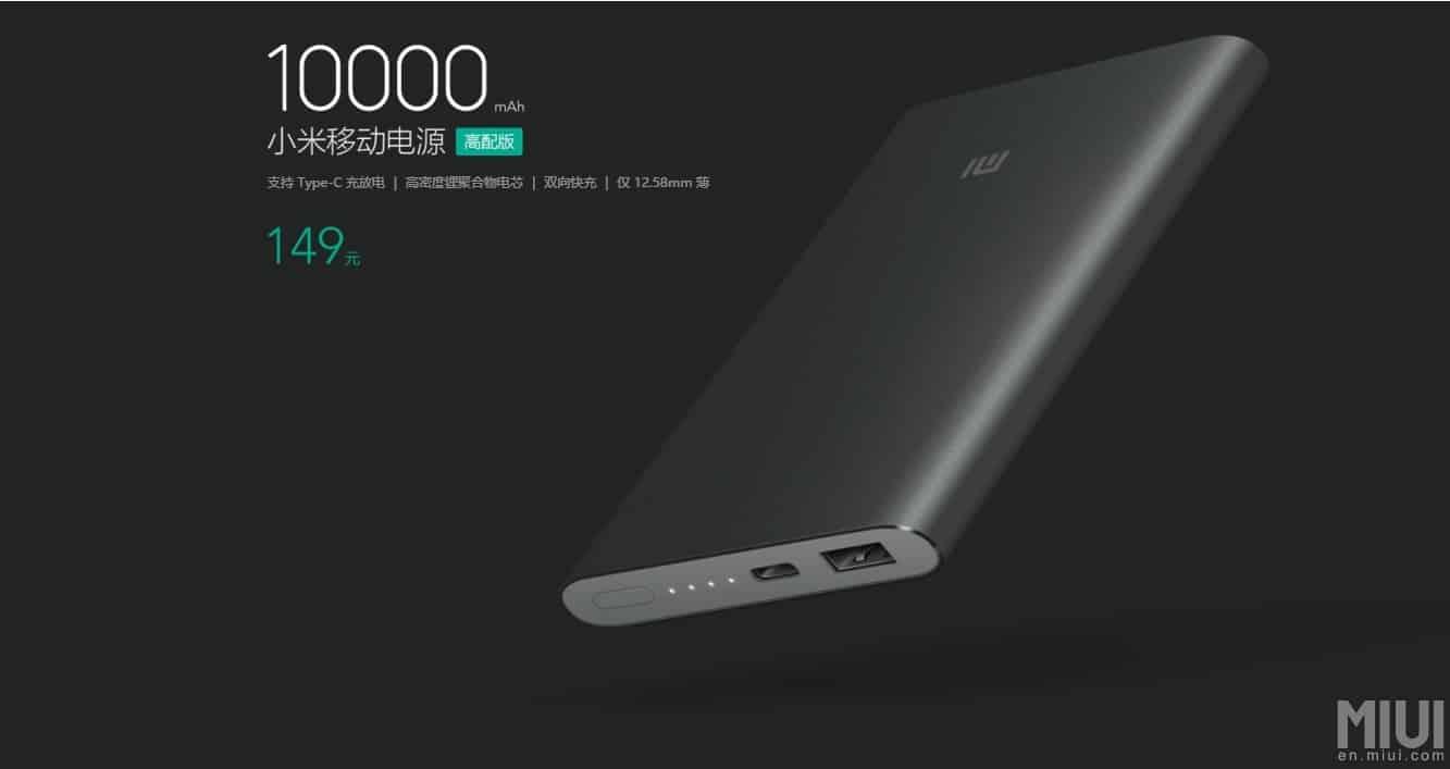 Power Bank USB Type C Xiaomi Pro 10000mah