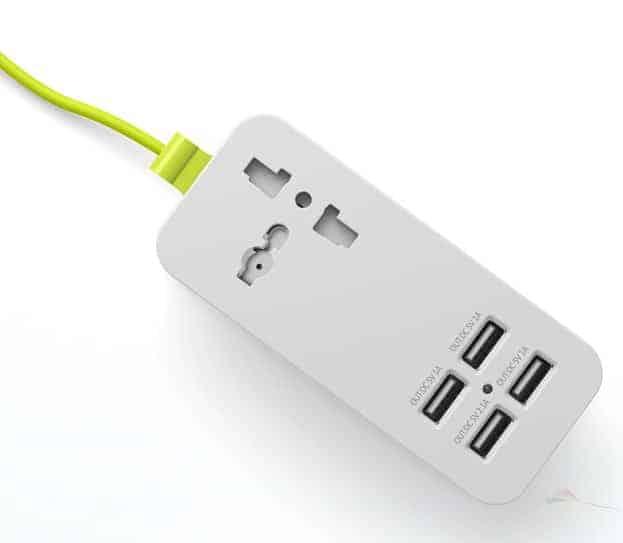 Pineng Soket Extension 4 USB Port Hub PN333 Front