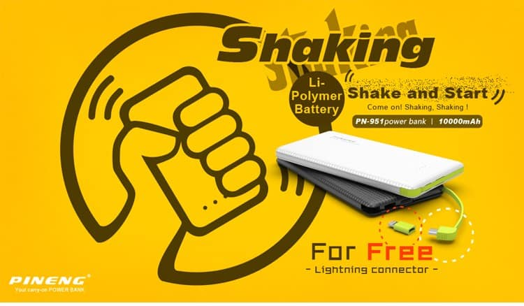 Shaking Power Bank Pineng PN951