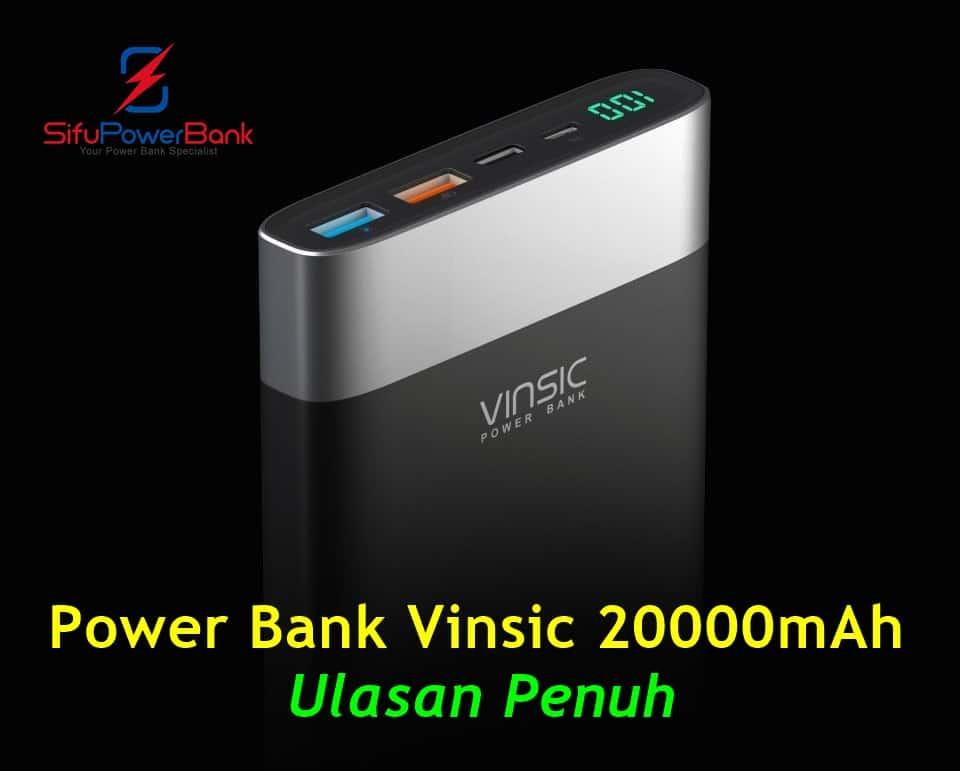 Power Bank Vinsic 20000mah Review 1
