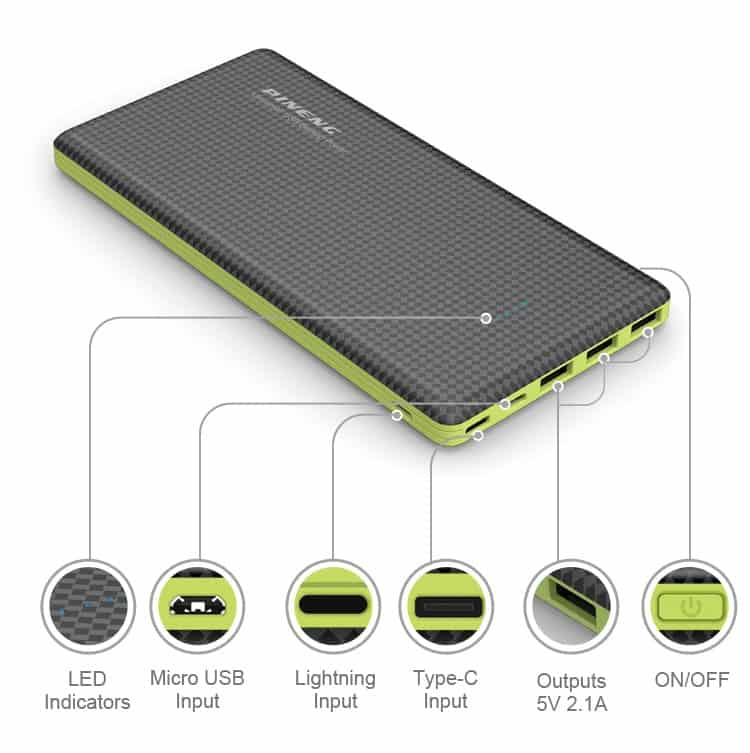 Power Bank Pineng PN 917 20000mAh Lithium Polymer 3