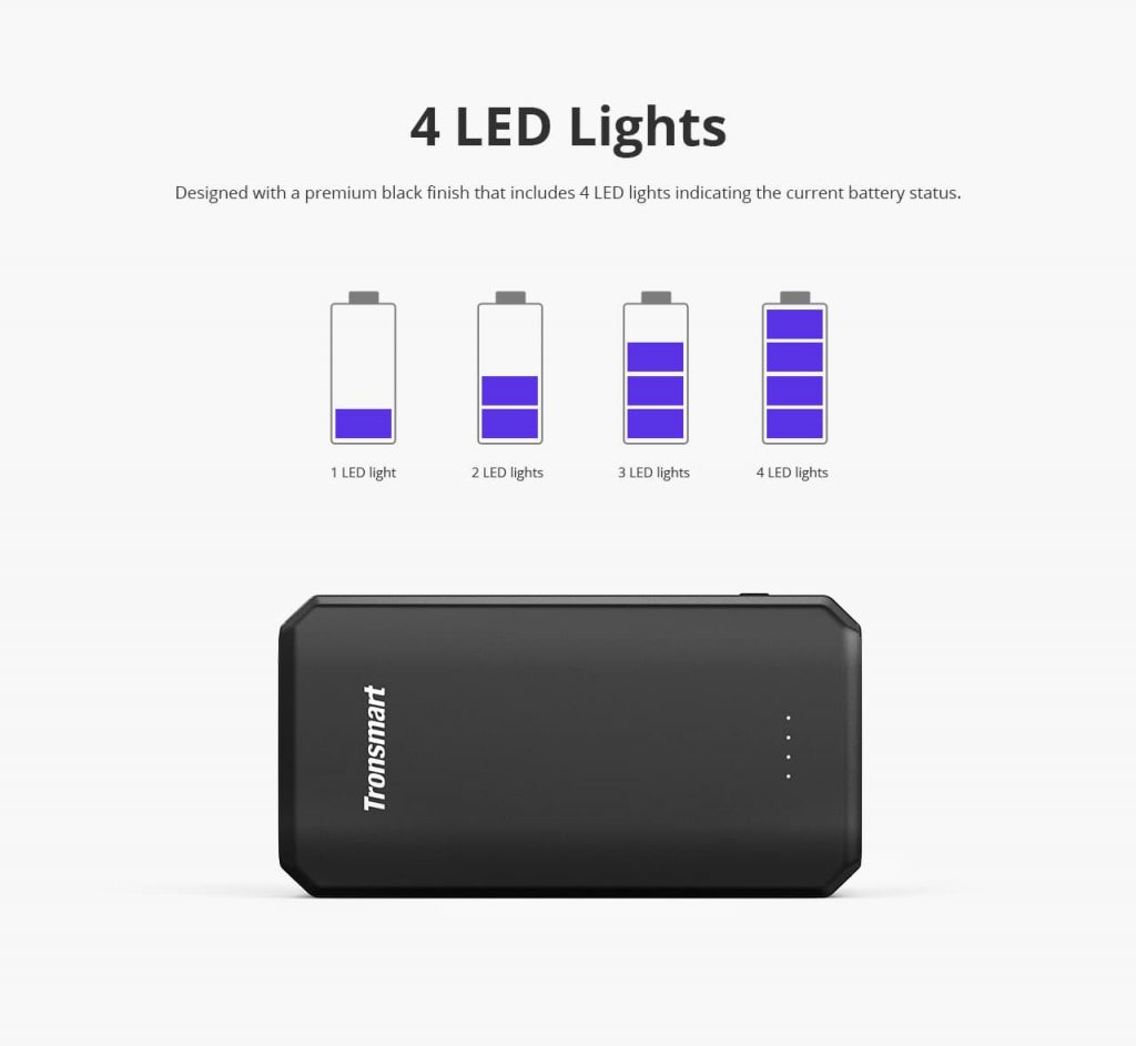 Tronsmart Edge 20000mAh Quick Charge 3.0 Power Bank 7