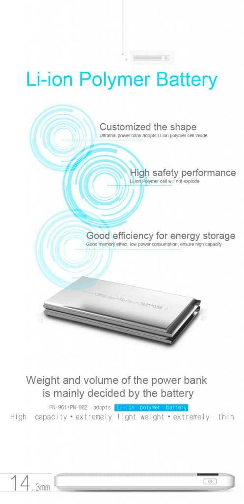 Power Bank Pineng 10000mAh PN-961 Fast Charging QC 3.0 2