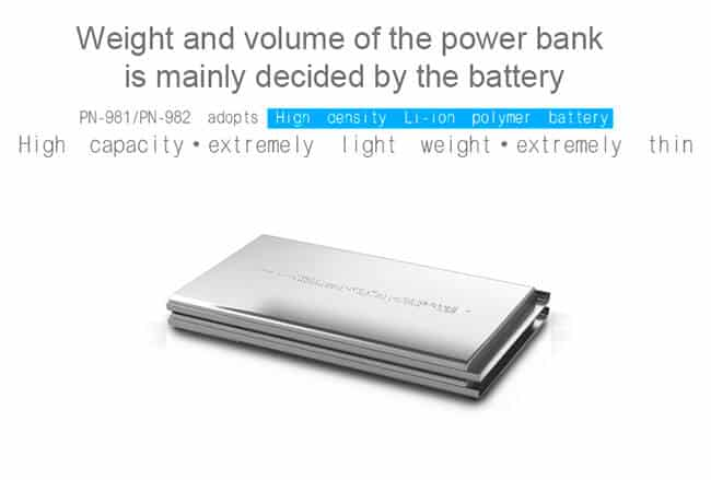 PINENG Power Bank 20000mAh PN982 Lithium Ion Polymer 3