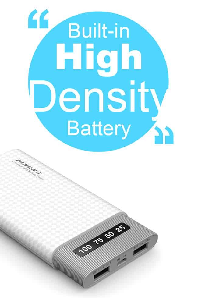 PINENG Power Bank 10000mAh PN981 Lithium Ion Polymer 5
