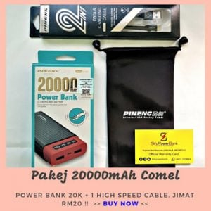 pakej 20000mah pineng pn982