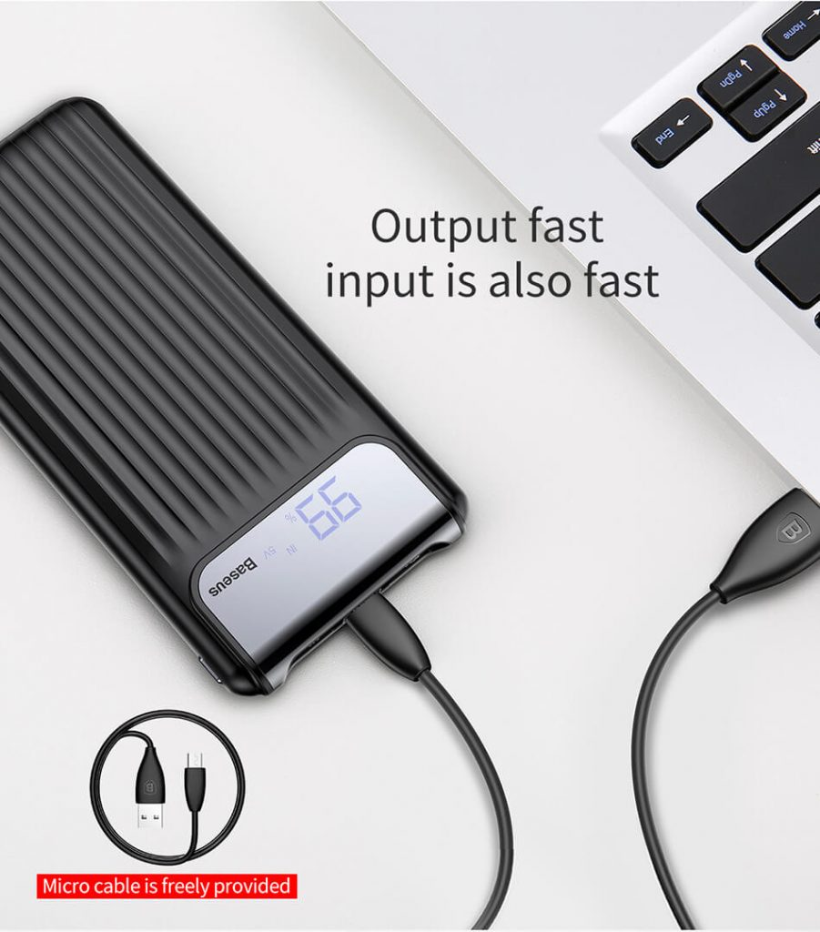 Baseus Thin Power Bank 10000mAh QC 3.0 Dual USB 2
