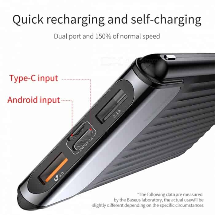 Baseus Thin Power Bank 10000mAh QC 3.0 Dual USB 4