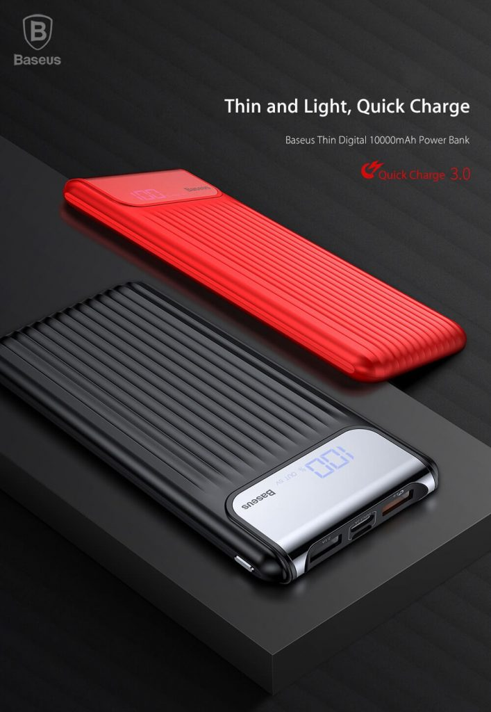 Baseus Thin Power Bank 10000mAh QC 3.0 Dual USB 6