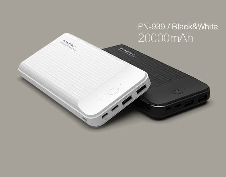 PINENG Power Bank 20000mAh PN939 Lithium Polymer 1