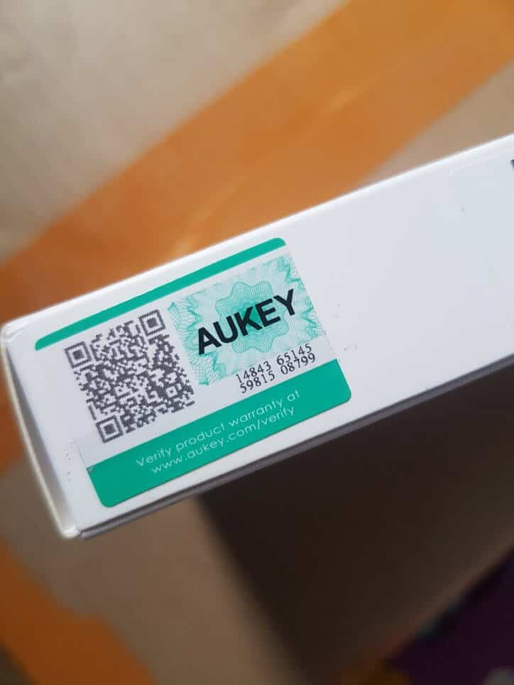 security label aukey cable