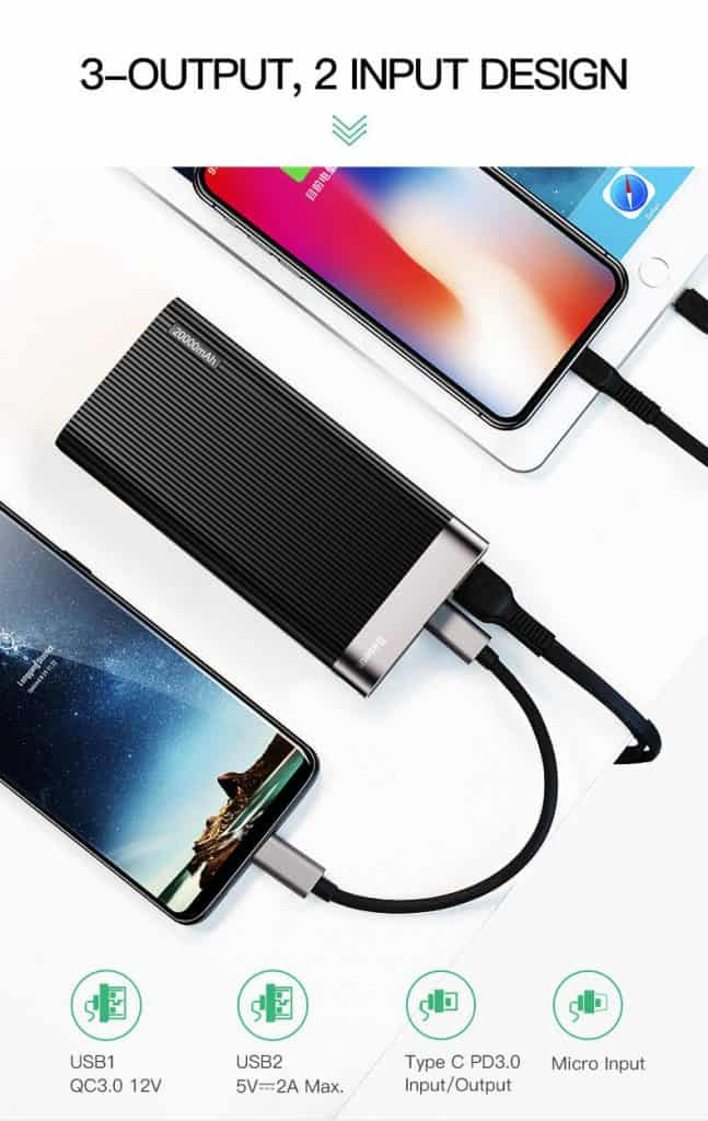 BASEUS Parallel Power Bank 20000mAh Power Delivery 3