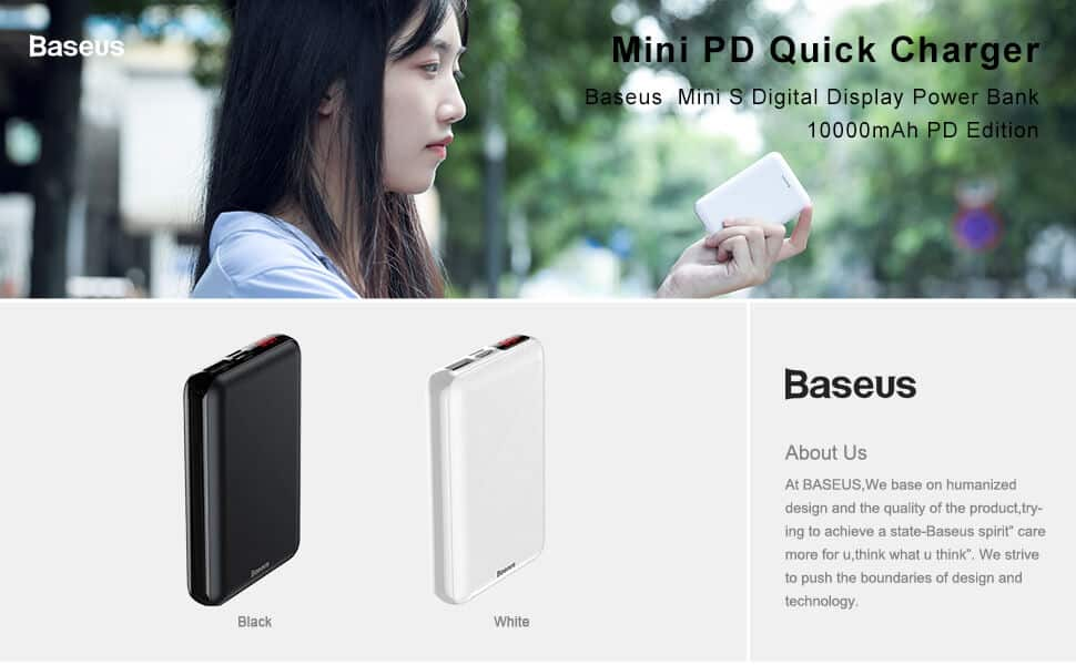 BASEUS Power Bank Mini 10000mAh S Power Delivery 1