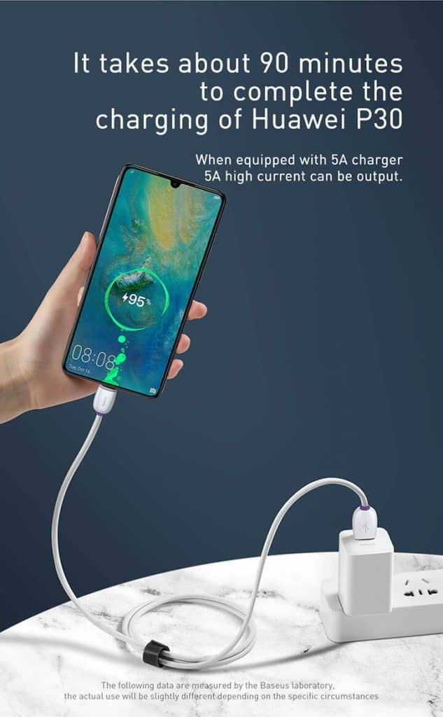 BASEUS USB Type C 40W 5A Support Huawei Super Charge SCP 4