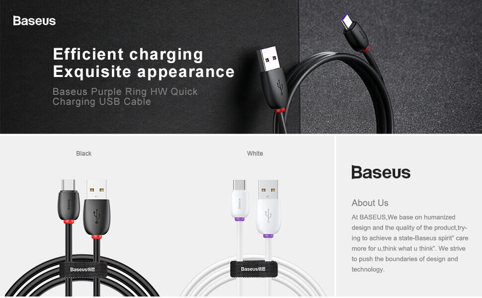 BASEUS USB Type C 40W 5A Support Huawei Super Charge SCP 1