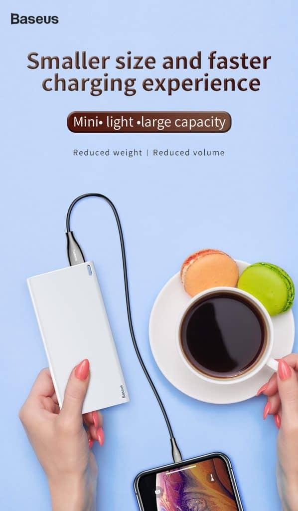 baseus choc power bank 10000mah lightweight