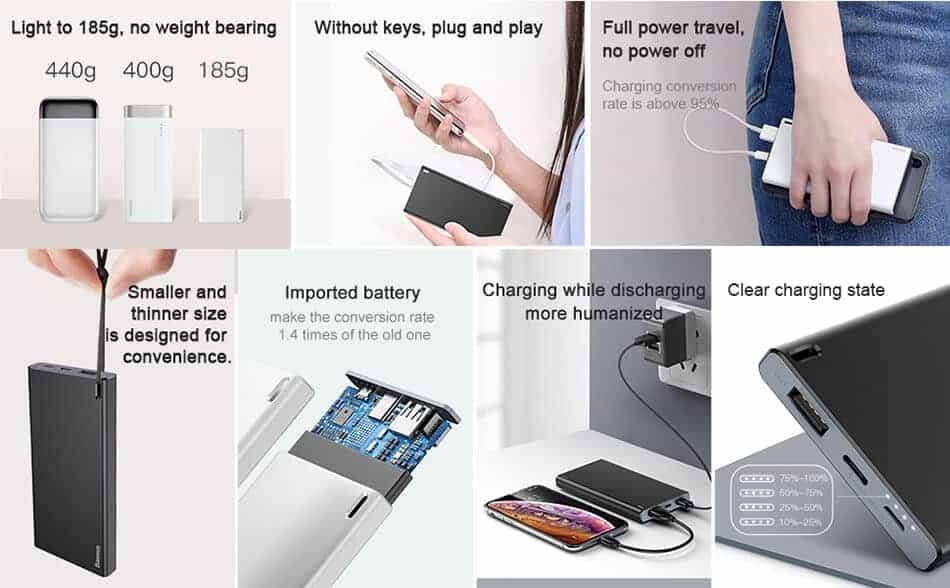 BASEUS Choc Power Bank 10000mAh Ultra Slim 3