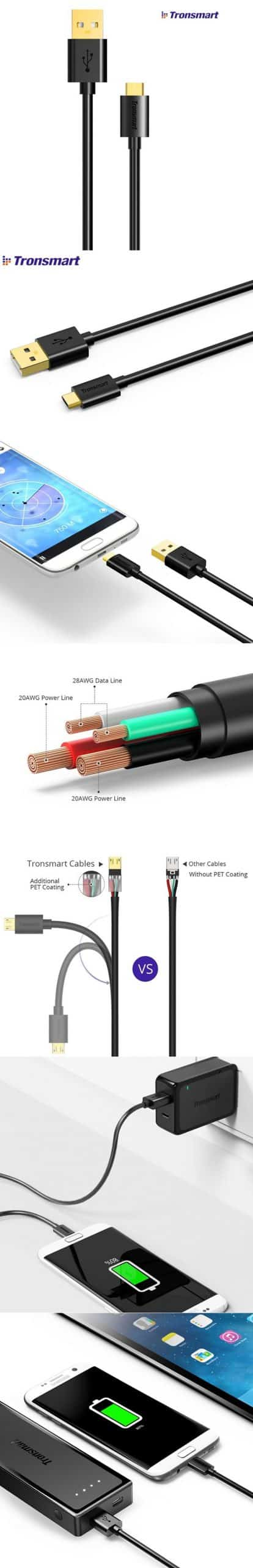TRONSMART MTA42 Micro USB Cable Premium Cable 1