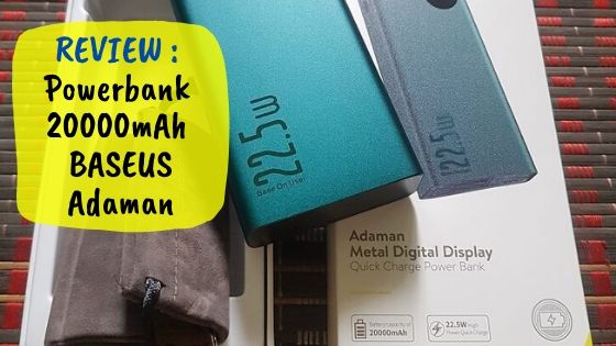 Power Bank BASEUS Adaman 20000mAh Review