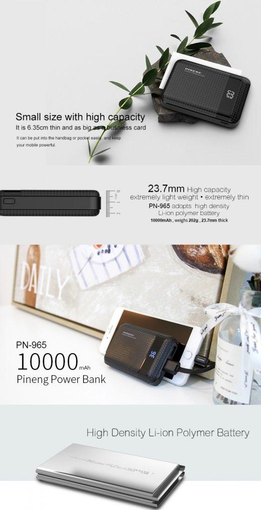 PINENG PN965 Powerbank 10000mAh Mini 7